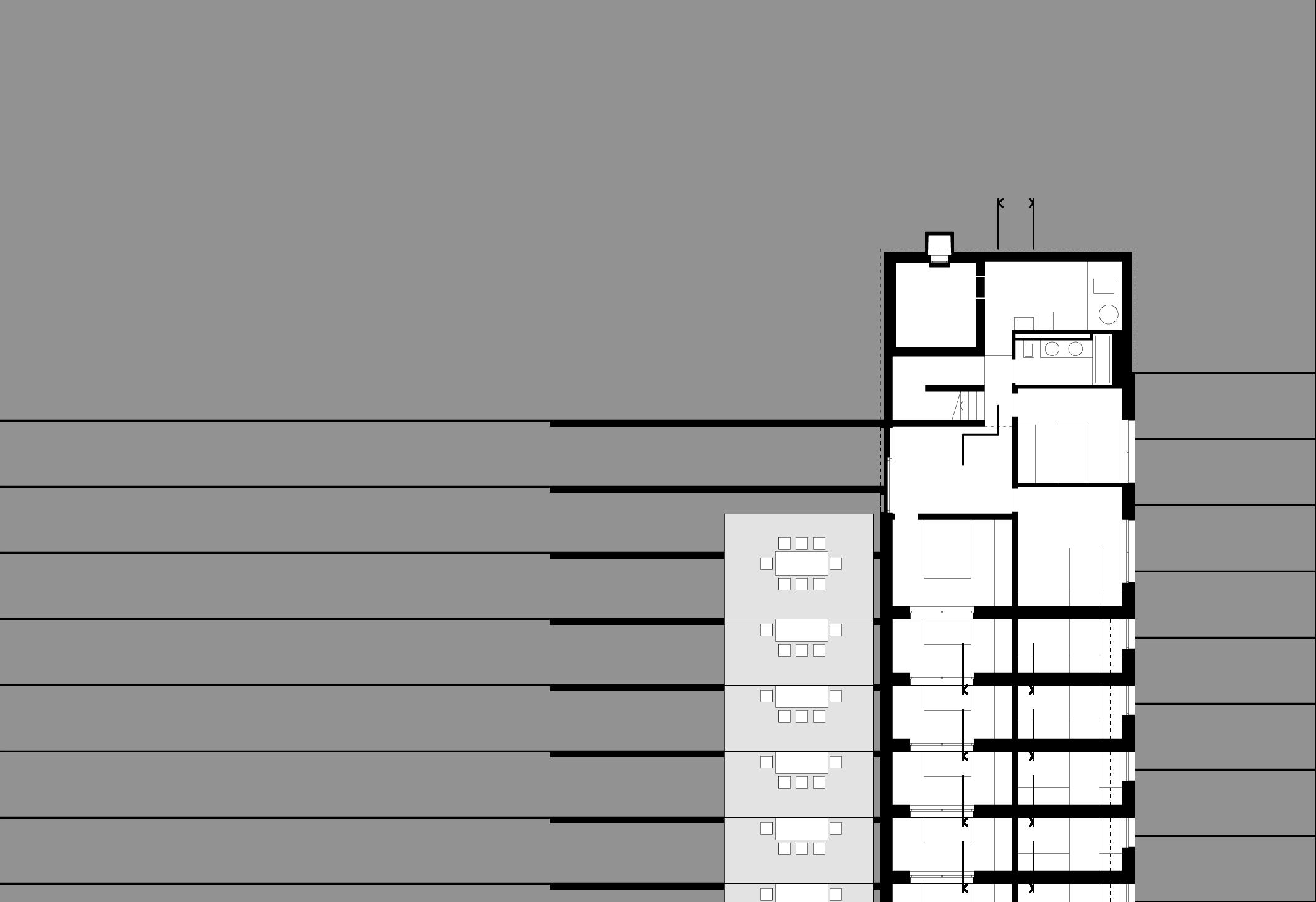 Plan du rez inférieur